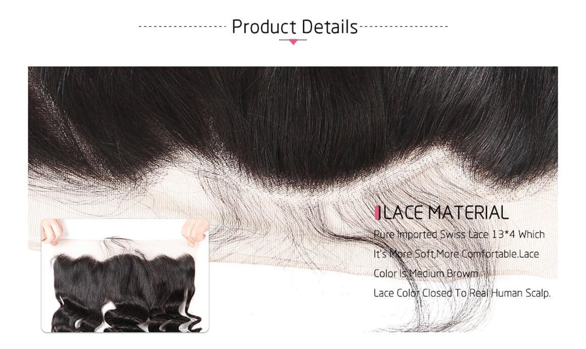 Loose Wave Hair Frontals 13*4 Frontal Lace Human Hairs For Sale
