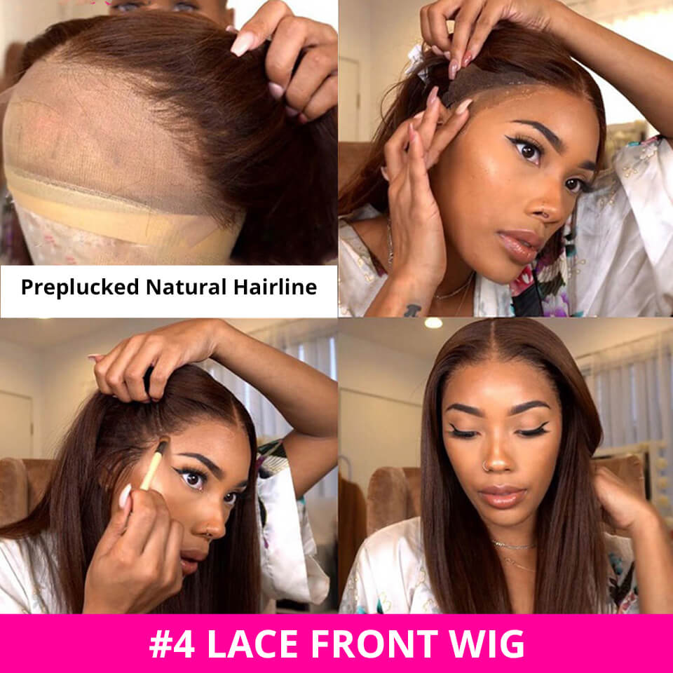 Lace Frontal Wigs #4 Straight And Body Wave Human Hair Wigs