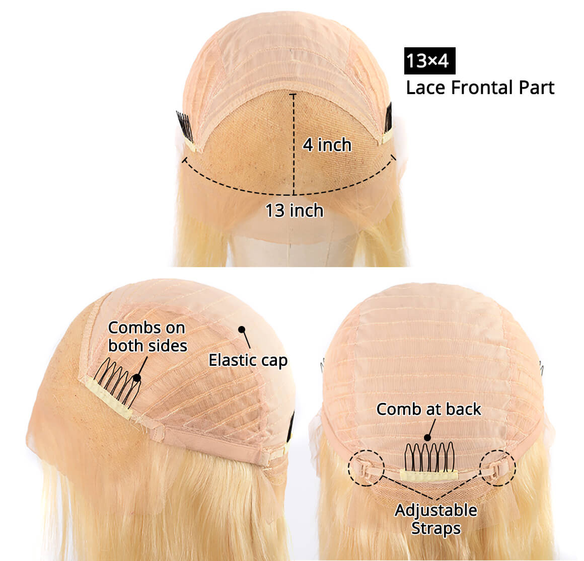 613 Blonde Wig Lace Front Human Hair Wigs Virgin Hair Lace Front Wigs