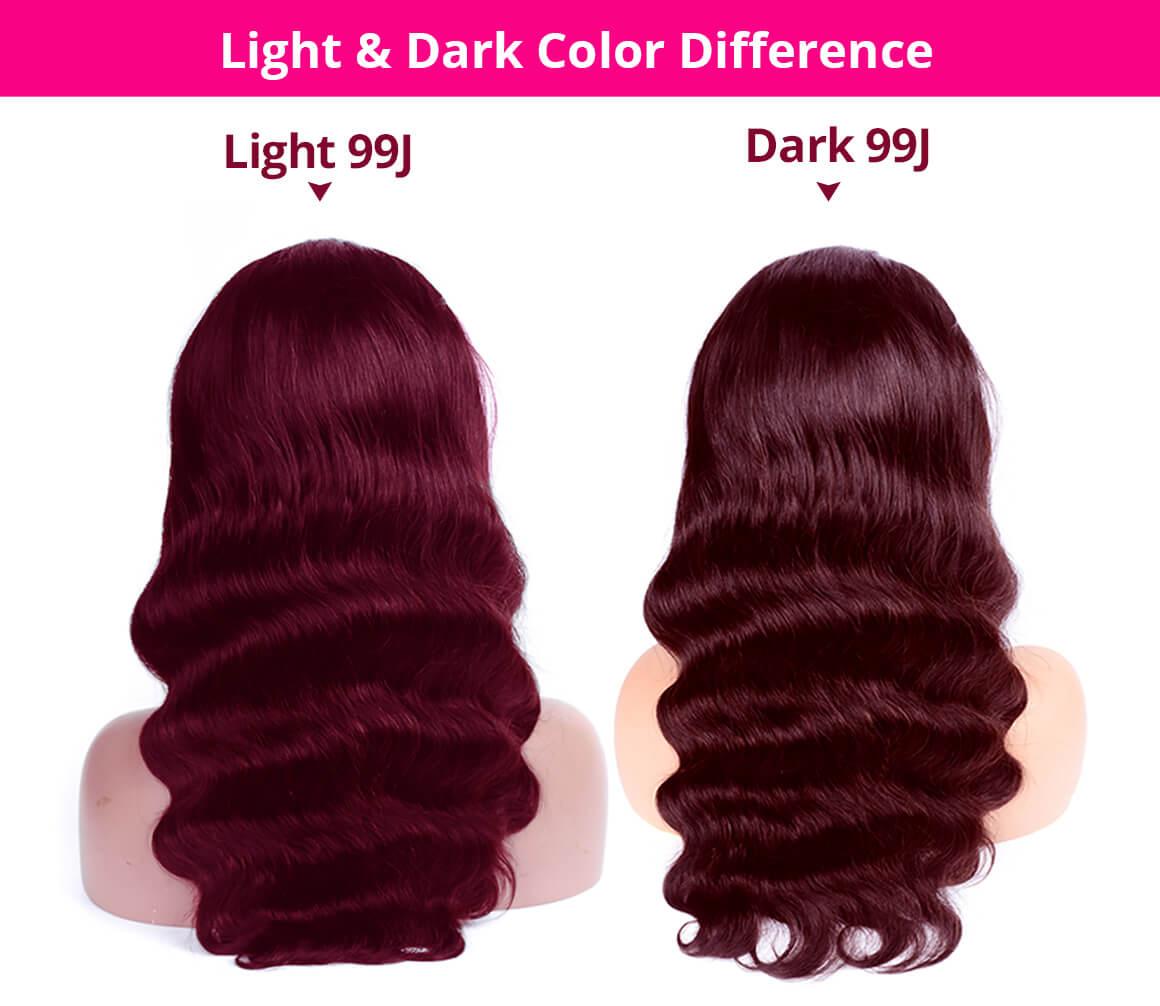 99J Burgundy Color Body Wave 13x4 Lace Front Wigs