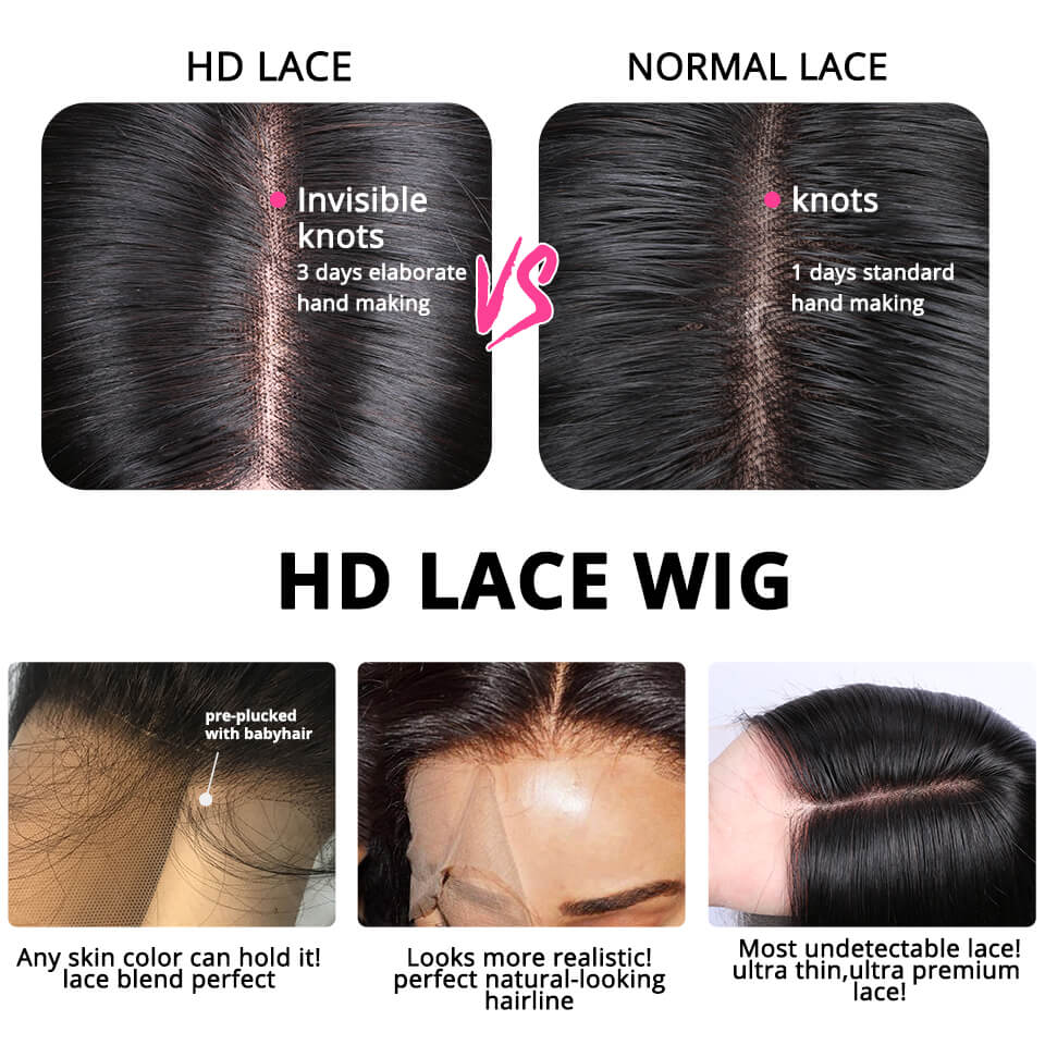 Curly Hair HD Lace Wigs 5x5 Closure Wigs 16-30 Inches Transparent Lace Wigs