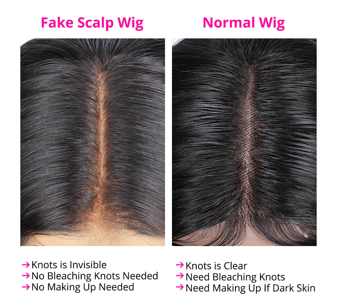Body Wave Pre-Made Fake Scalp Wigs For Women