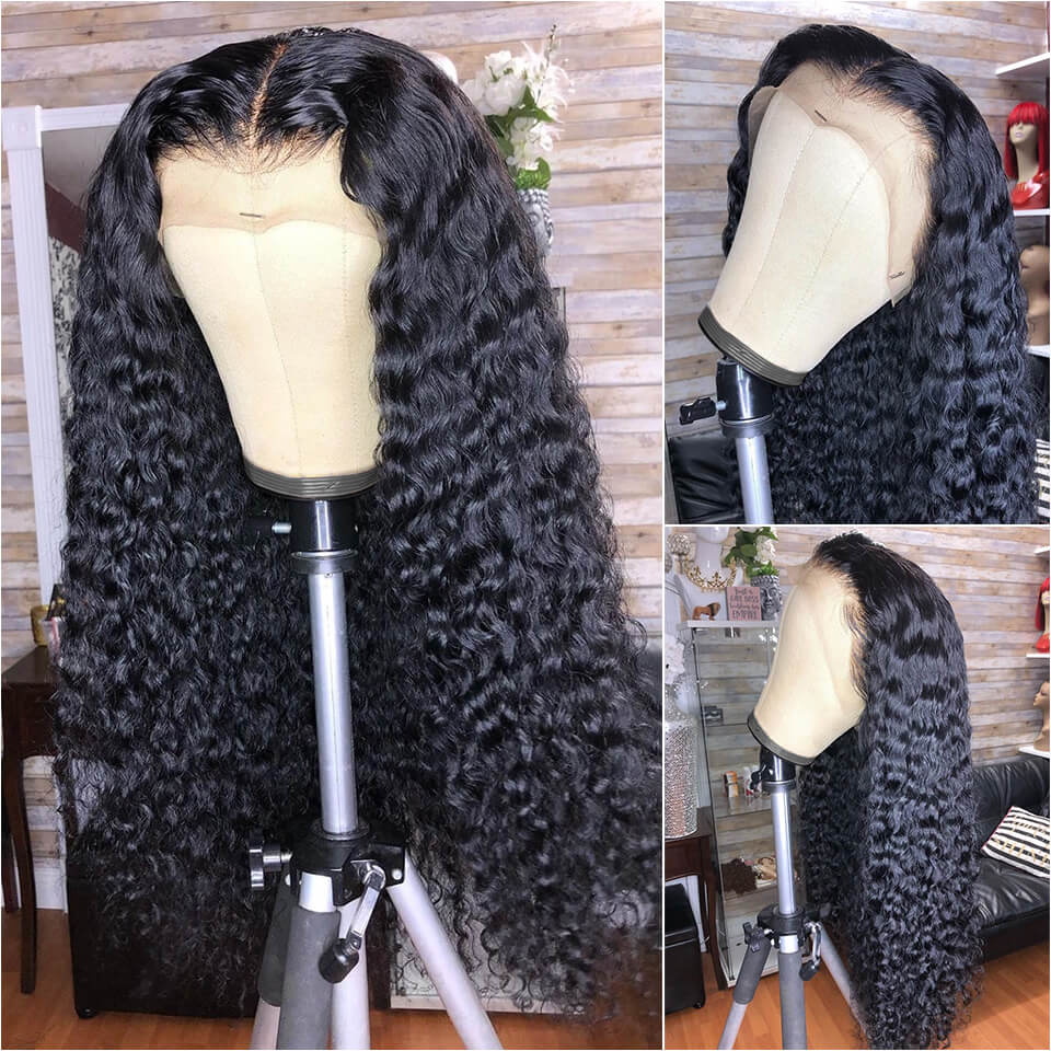 Deep Wave Lace Front Wigs With Baby Hair 24-36 Inches For Women