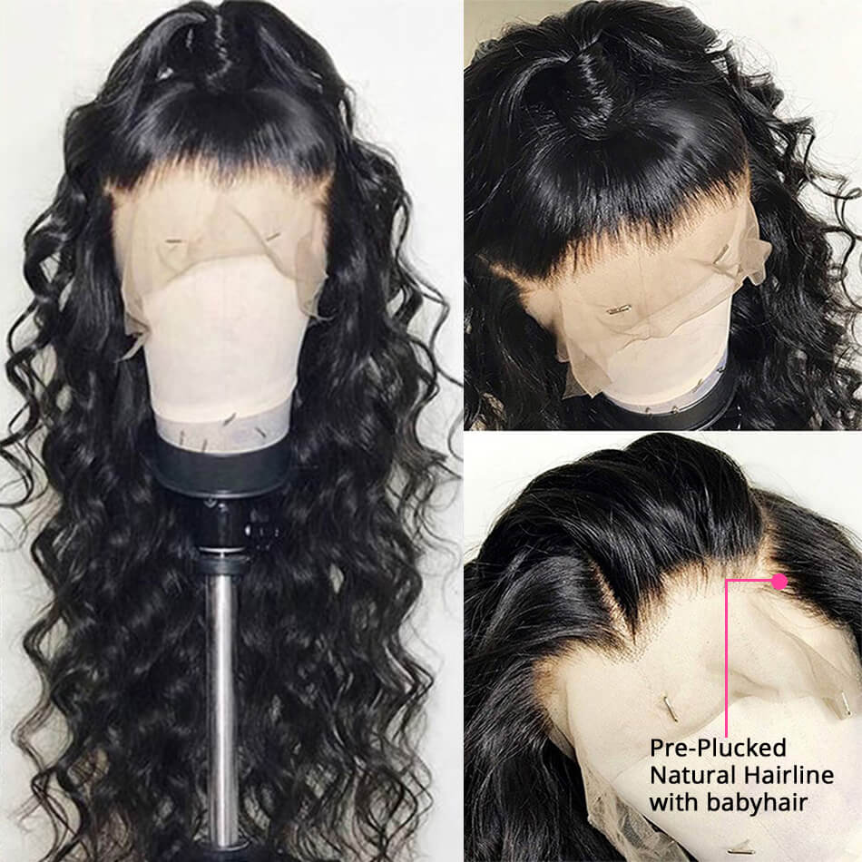 Lace Front Wigs Human Hair Loose Deep Wave Good Quality Wigs
