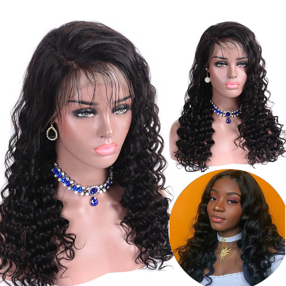 Loose Deep Wave Lace Front Wigs For African Women