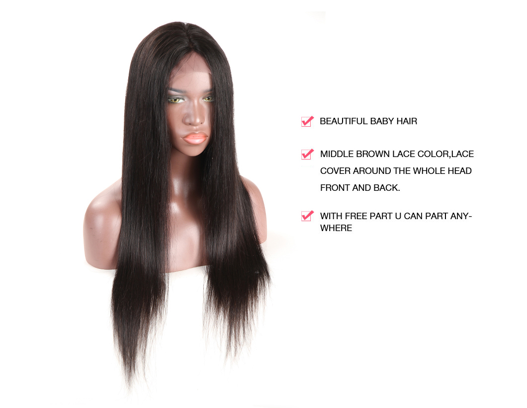 Full Lace Human Hair Wigs Straight Virgin Hair Best Human